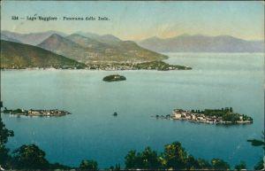 Ansichtskarte Stresa Stresa Lago Maggiore (Italien) mit Inseln 1911