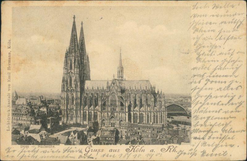 Ansichtskarte Köln Kölner Dom 1901