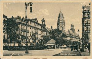Ansichtskarte Innere Altstadt-Dresden Ringstraße 1940