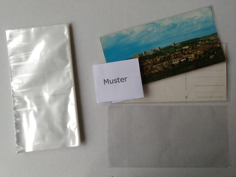 100 Ansichtskarten Schutzhüllen für Panoramakarten 110x220x0,04mm