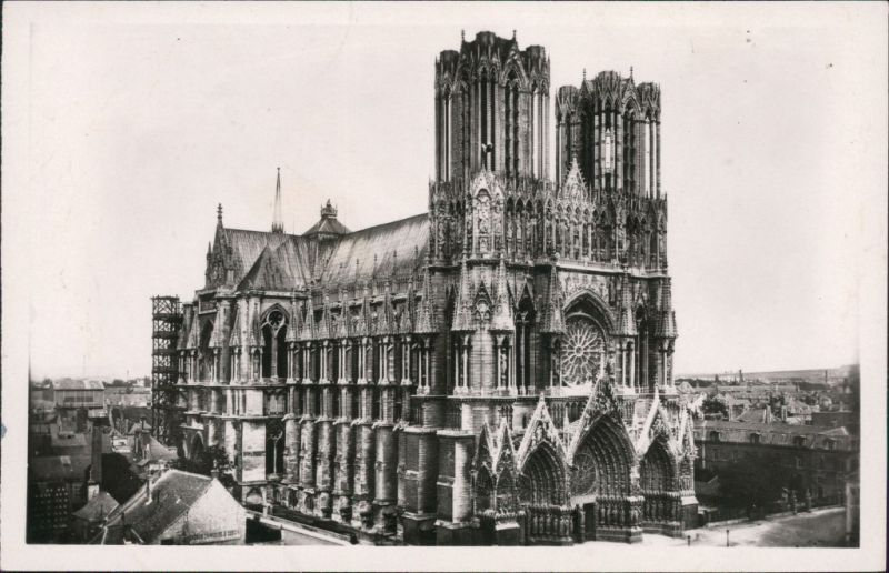 CPA Reims Reims La Cathedrale - Kathedrale 1932