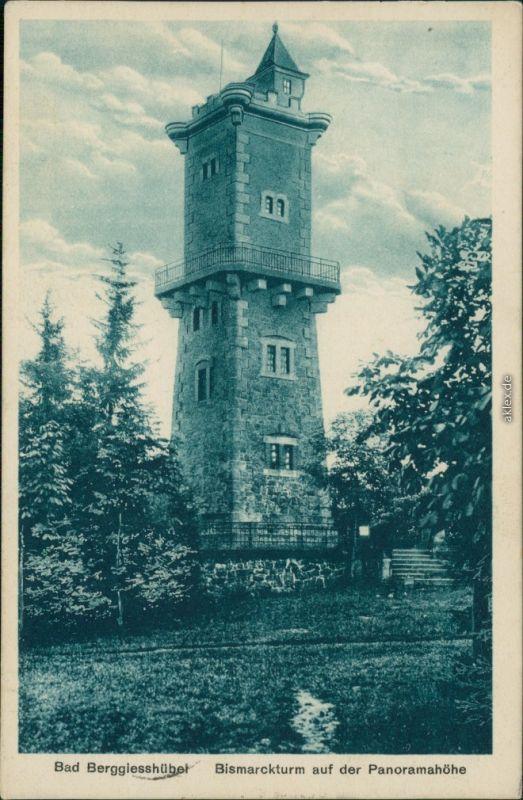Berggießhübel-Bad Gottleuba-Berggießhübel Bismarckturm auf der Panoramahöhe 1927