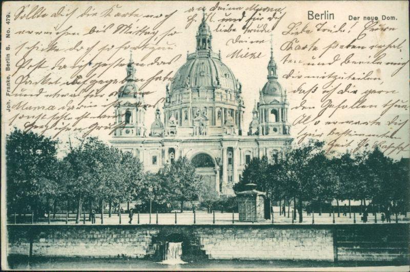 Ansichtskarte Mitte-Berlin Der neue Dom 1902