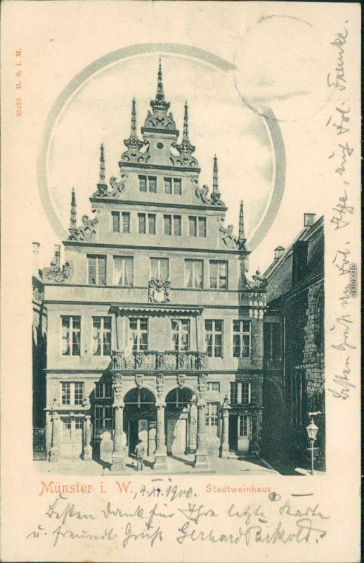 Ansichtskarte Münster (Westfalen) Stadtweinhaus 1900