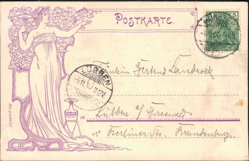 Ansichtskarte Münster (Westfalen) Stadtweinhaus 1900 1
