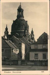 Fotokarte  Altstadt Dresden Frauenkirche vor der Zerstörung 1955