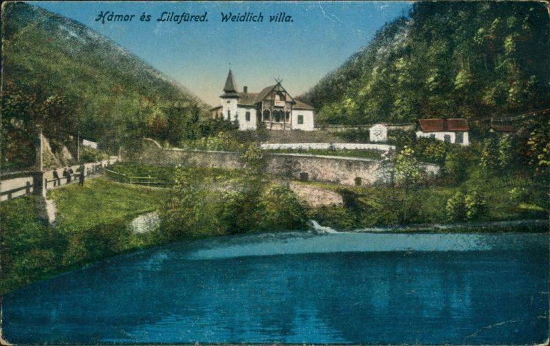 Lillafüred-Miskolc Miskolc (Miškovec/Miszkolc)   der Villa Weidlich 1922