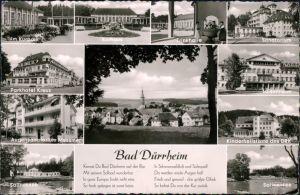 Bad Dürrheim Kurpark, Parkhotel, Trinkhalle, Sanatorium, Luisenheim,   1960