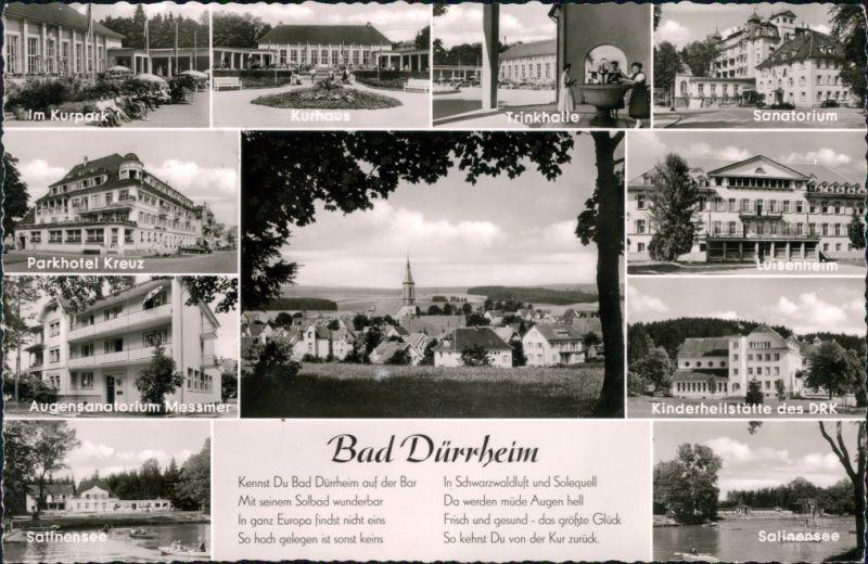 Bad Dürrheim Kurpark, Trinkhalle, Kurhaus,   1960