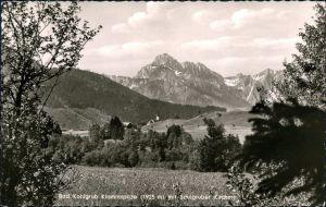 Ansichtskarte Bad Kohlgrub Blick auf den Ort 1953