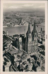 Luftbild Ansichtskarte Köln Kölner Dom 1955