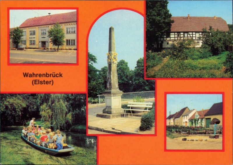 Wahrenbrück Uebigau, Kahnfahrt, Uebigauer Straße, Historische Mühle 1986