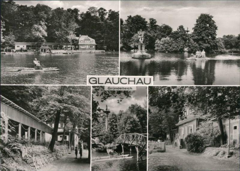Ansichtskarte Glauchau Gründelteich 1974