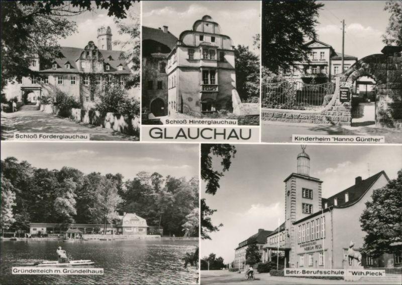 Glauchau Schloß, Kinderheim, Gründelteich, Betr. Berufsschule 1975