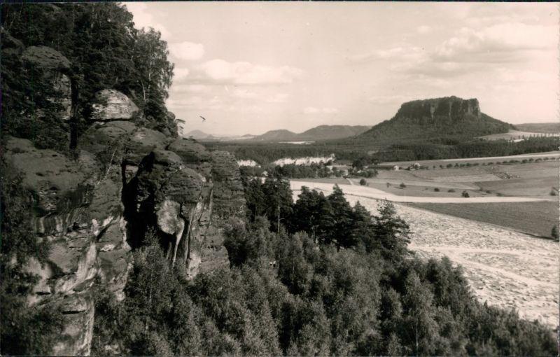Ansichtskarte Weißig-Struppen (Sächsische Schweiz) Blick vom Rauenstein 1974
