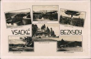 Ansichtskarte Wesetin Vsetín   Settein Schutzhütte Wsetiner Cab Mähren 1941