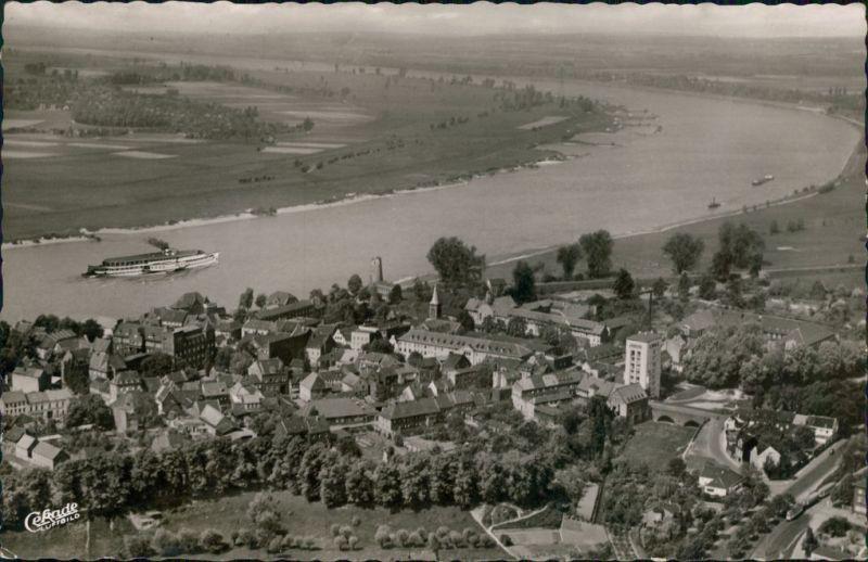 Ansichtskarte Kaiserswerth-Düsseldorf Luftbild 1956