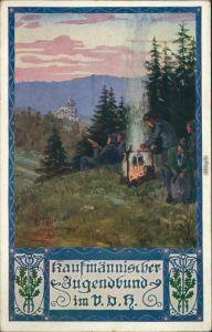 Ansichtskarte  Künstlerkarte kaufmännischer Jugendbund im V.D.R. 1912