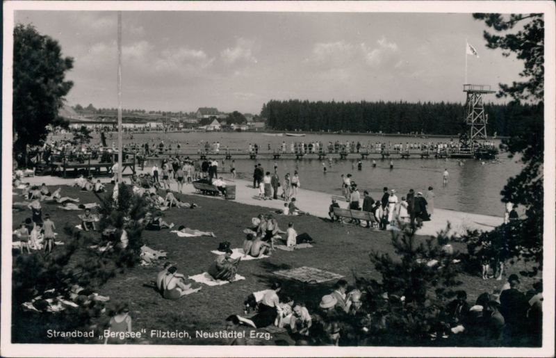 Neustädtel-Schneeberg Strandbad Bergsee Filzteich g1939