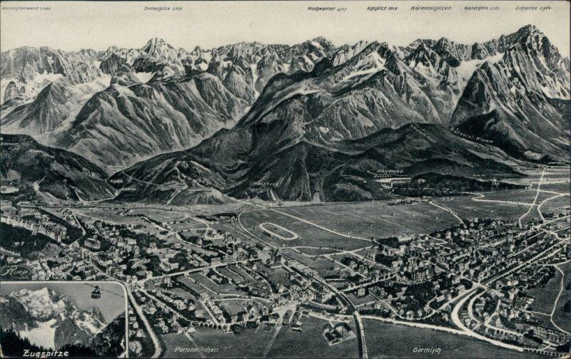 Ansichtskarte Garmisch-Partenkirchen Landkarten-Ansichtskarte 1935 0
