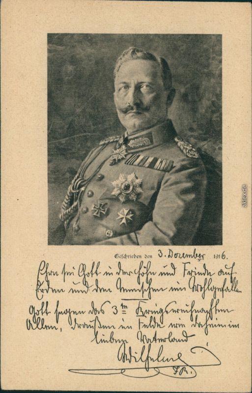 Ansichtskarte  Kaiser Wilhelm II 1916