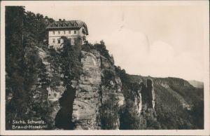 Ansichtskarte Hohnstein (Sächs. Schweiz) Brand-Hotel SW g1929
