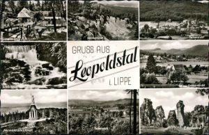 Leopoldstal-Horn-Bad Meinberg Silbermühle, Velmerstort, Panorama  1972