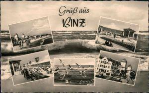 Binz (Rügen) Strand, Promenade, Möwen, Konzertplatz, Kurhaus, Brunnen 1959