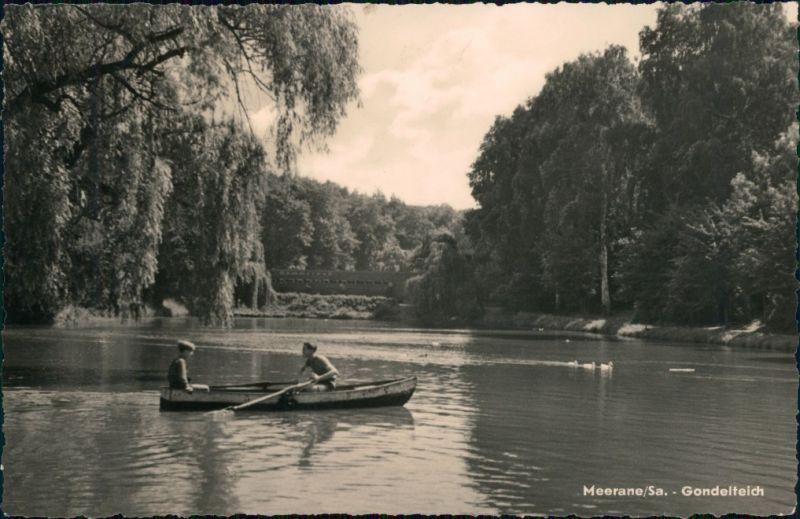 Ansichtskarte Meerane Gondelteich 1965