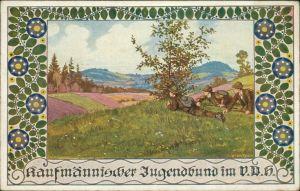 Sylvester Kaufmännischer Jugendbund - Jungen schleichen sich an 1917