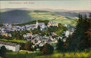 Ansichtskarte Schwarzenberg (Erzgebirge) Blick auf den Ort 1914