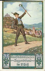 Glückwunsch / Grusskarten: kaufmännischer Jugendbund - Wanderer 1916