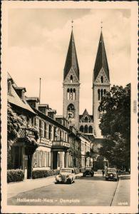 Ansichtskarte Halberstadt Domplatz 1961