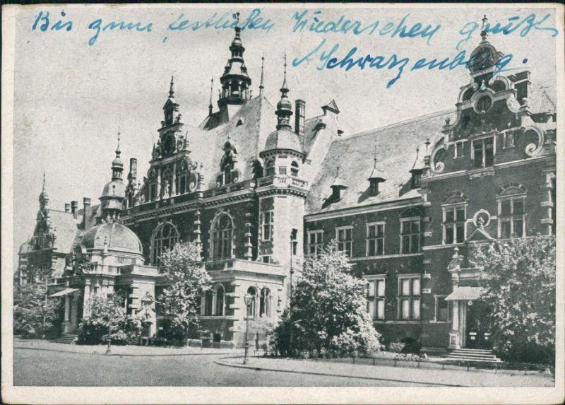 Ansichtskarte Leipzig Buchhändler-Börse 1946