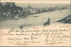 Ansichtskarte Pirna Blick auf die Stadt 1897