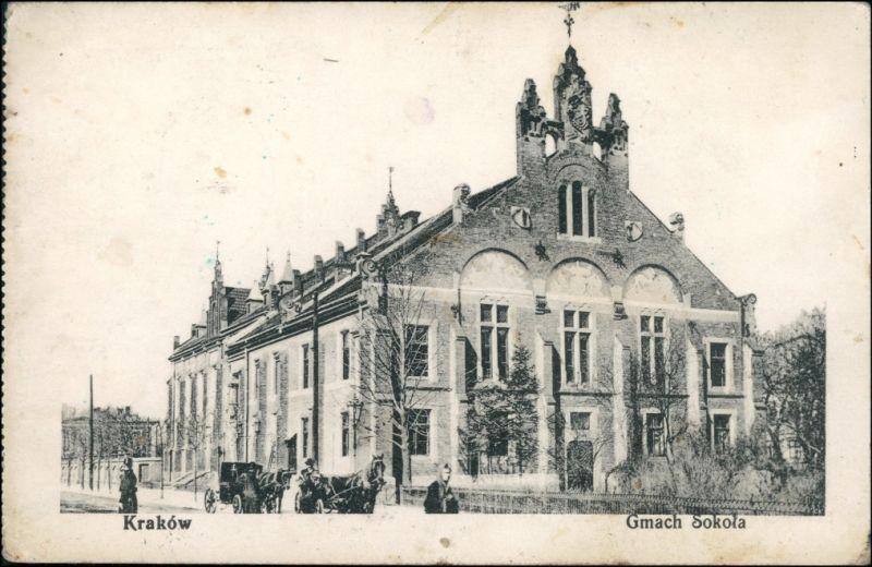 Postcard Krakau Kraków Gmach Skola 1914