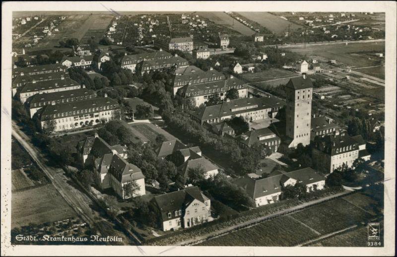 Neukölln-Berlin bis 1912 Rixdorf Luftbild - Städt. Krankenhaus 1934