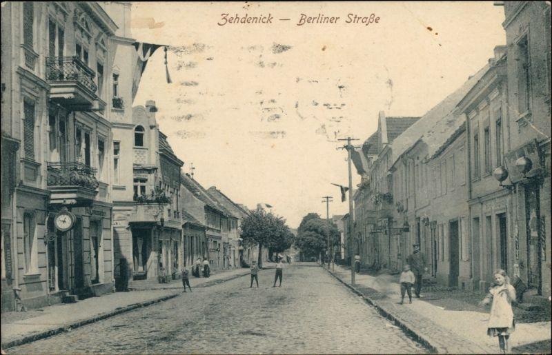 Ansichtskarte Zehdenick Partie der Berliner Straße b Berlin Oranienburg 1920