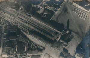 Postcard Helsinki Helsingfors Luftbild Bahnhof 1923