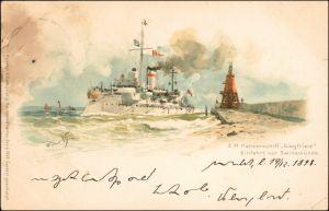 Osternothafen (Ostswine)-Swinemünde Warszów Świnoujście S.M. Panzerschiff 1898