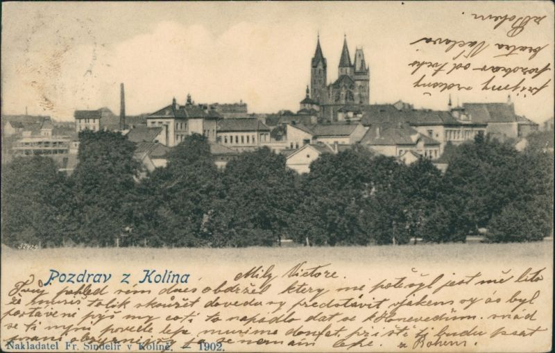 Postcard Kolin Kolín Grüße aus... Stadtblick 1924
