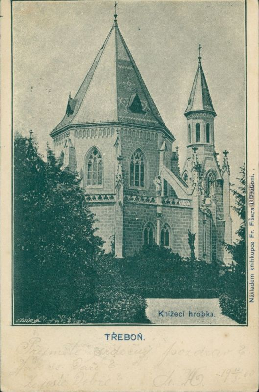 Postcard Třeboň Knížecí hrobka 1900