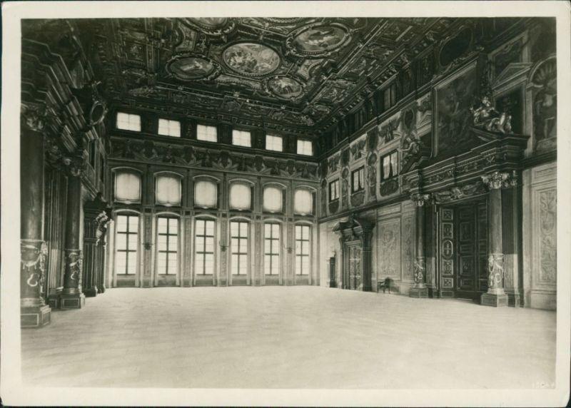 Ansichtskarte Augsburg Rathaus - Goldener Saal 1939