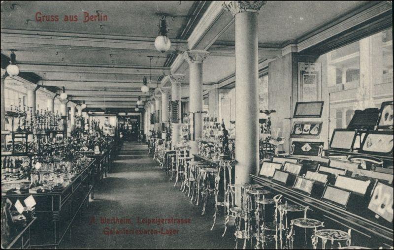 ansichtskarte mitte berlin wertheim leipziger stra e lichthof 1906 nr 125643 oldthing. Black Bedroom Furniture Sets. Home Design Ideas