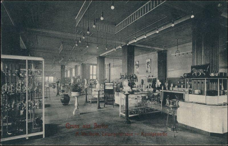 Ansichtskarte Mitte-Berlin Wertheim Leipziger Straße - Kunstgewerbe 1906
