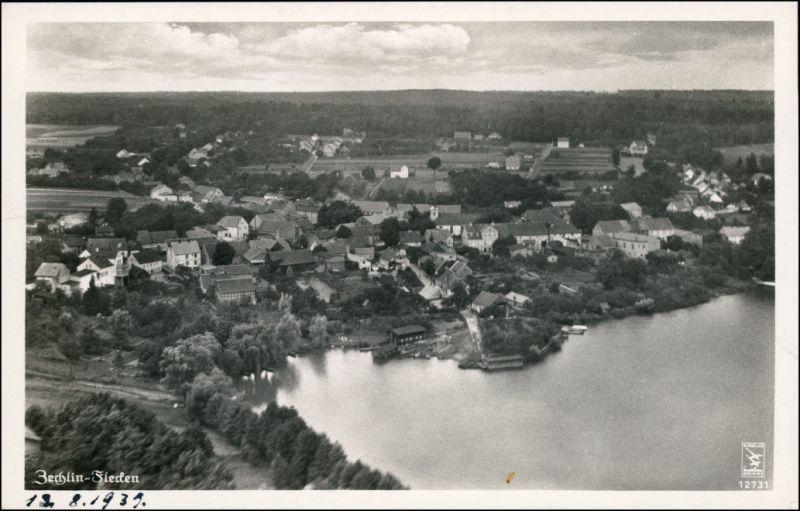 Ansichtskarte Flecken Zechlin Luftbild 1956