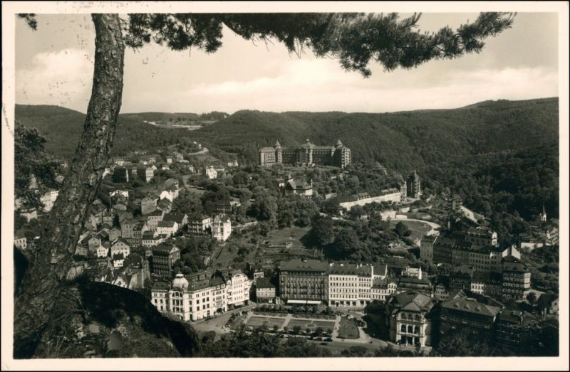 Karlsbad Karlovy Vary Blick vom Hirschensprung auf die Stadt 1935