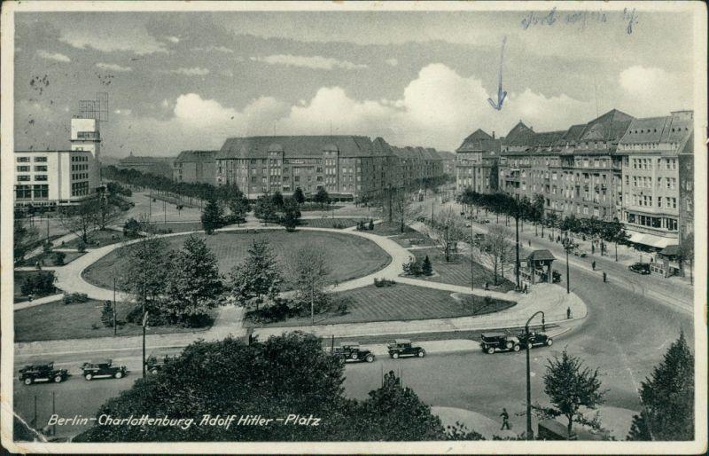 Ansichtskarte Charlottenburg  Berlin Adolf H. -Platz 1935