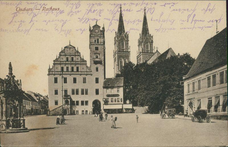 Ansichtskarte Oschatz Rathaus 1919