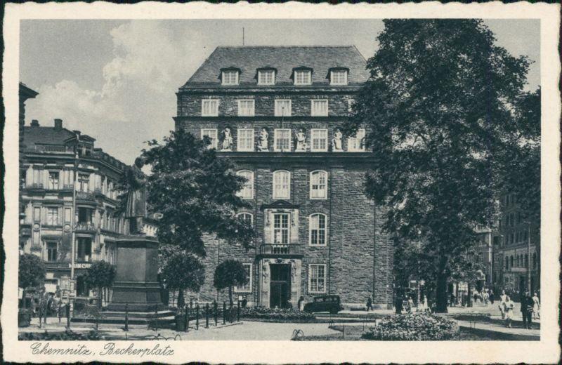 Ansichtskarte Chemnitz Beckerplatz 1930